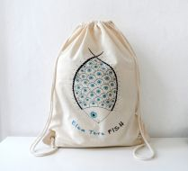 Elem Tere FISH, Balık - Bez Çanta Backpack , Shebbodesign