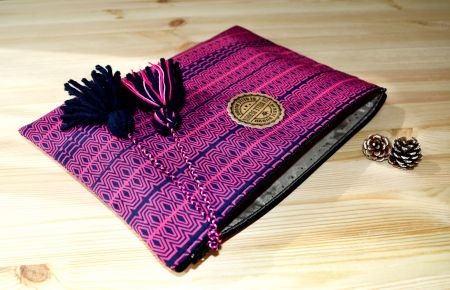 tribal desenli clutch