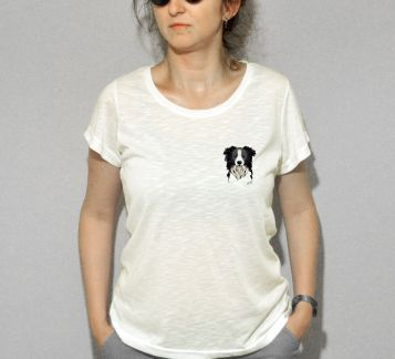 BORDER COLLIE by Mü DESIGN - Bayan Tshirt
