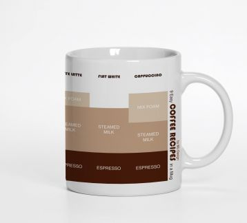 Coffee Recipes Mug by Mü DESIGN