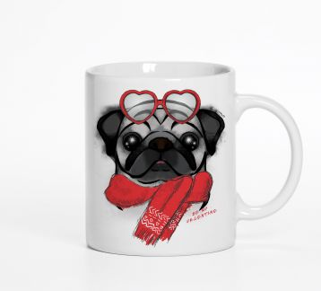 Be My Valentine Pug Kupa