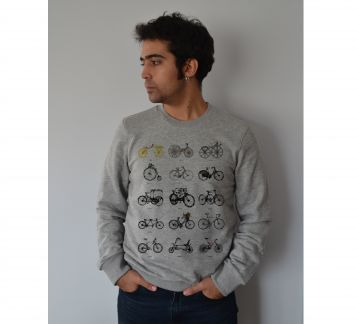 Evolution of Bicycle Erkek Sweatshirt