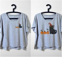 """Bombay"" TRICK OR TREAT Gri Tshirt"
