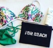 For Beach / Siyah Clutch