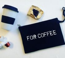 For Coffee / Siyah Clutch