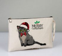 Merry Christmas Asian Cat Clutch