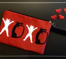 XOXO Nubuk Clutch