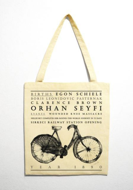 "Bicycle "" Year 1890"" Bez Çanta"