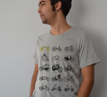 Evolution of Bicycles / Erkek Tshirt