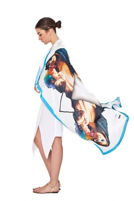 BlueBlue Silk Scarf