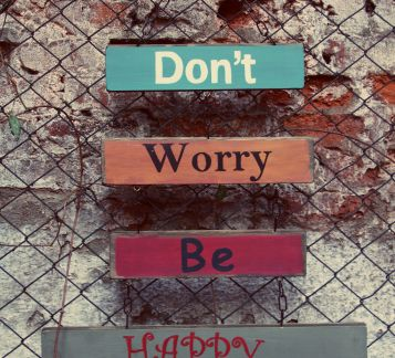 Don't Worry Be Happy Duvar Panosu - Tabela
