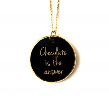 Chocolate İs the Answer kolye