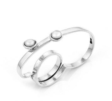 Pearl Cloud Double Finger Rings