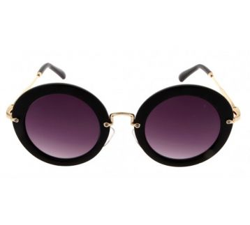 Round Black Sunglasses -3 renk cam