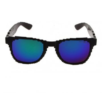 Pixel Design Sunglasses - Mavi ve Füme Cam