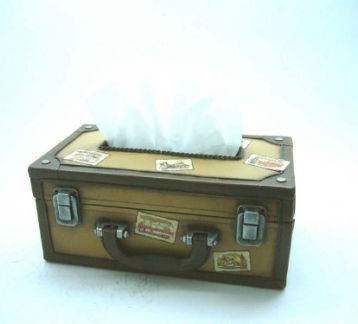 Suitcase-Tissue Dispenser-Metal Peçetelik Kağıtlık