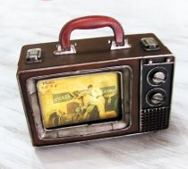 Vintage Metal El Çantası -TV Suitcase