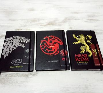 Game Of Thrones-Stark-Targaryen-Lannister-3 lü Defter Set