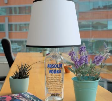 Absolut Vodka Şişe Abajur
