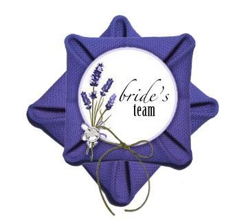 8 Adet Purple Lavender Bride Team Broş - Bileklik