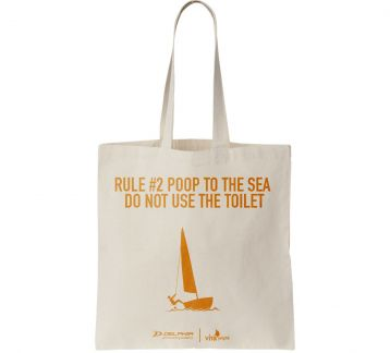"Rule #2 ""Poop To The Sea Do Not Use The Toilet"" Çanta"