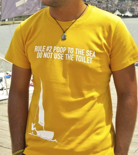 "Rule #2 ""Poop To The Sea Do Not Use The Toilet"" T-shirt"