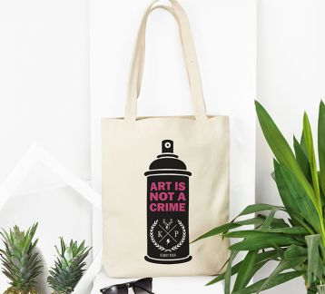 Kinky Pera Art Is Not A Crime Bez Çanta Tote Bag