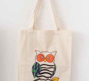 owl tote bag (by hülya özdemir)