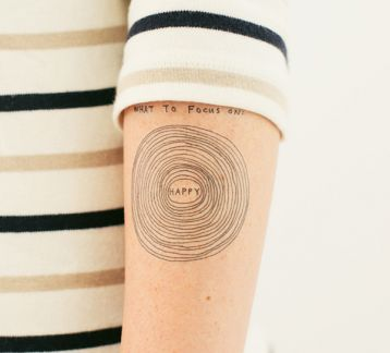 Tattly Geçici Dövme What to Focus On 0019WS