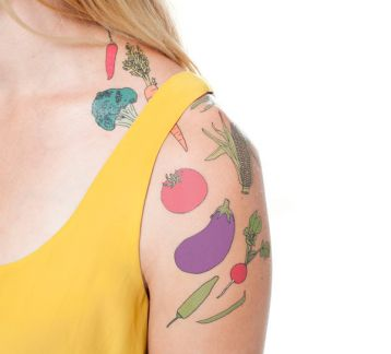 Tattly Geçici Dövme Seti Vegetable Set 5011WS