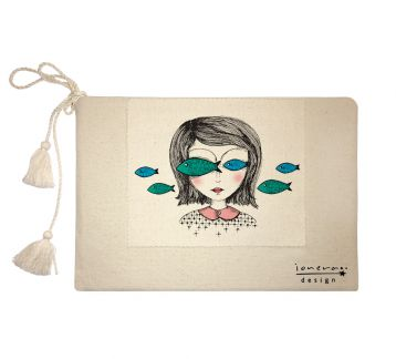 'Fish Eyes' clutch çanta