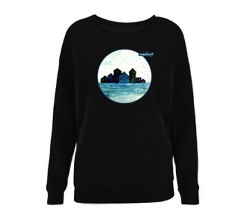 'Flight' unisex sweatshirt (Siyah)