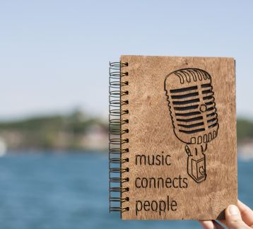 AHŞAP KAPAKLI DEFTER MUSIC CONNECTS