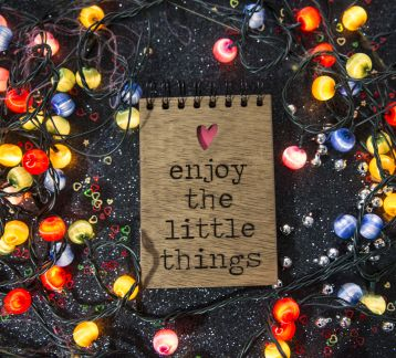 AHŞAP KAPAKLI NOT DEFTERİ ENJOY LITTLE THINGS