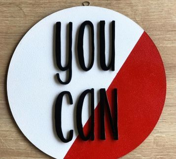 """YOU CAN"" AHŞAP PANO"