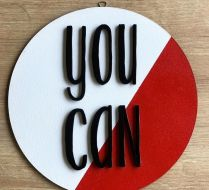 """""""YOU CAN"""" AHŞAP PANO"""