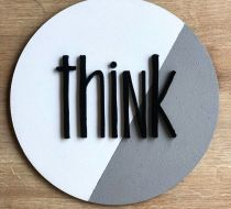 """THINK"" AHŞAP PANO"
