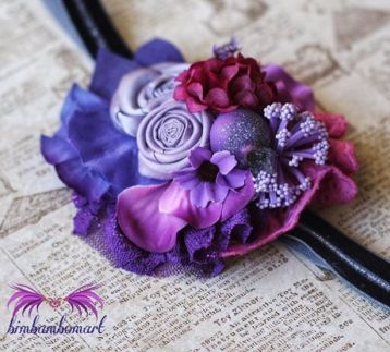 Purple Love Headband
