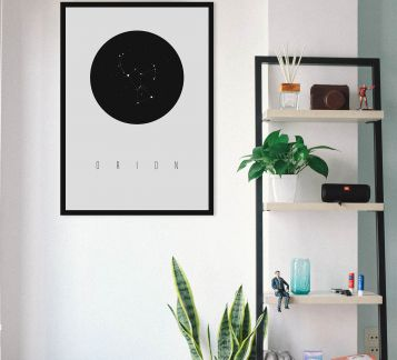 Orion Constellation Poster