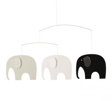 Elephant Party Mobile, B&W&G