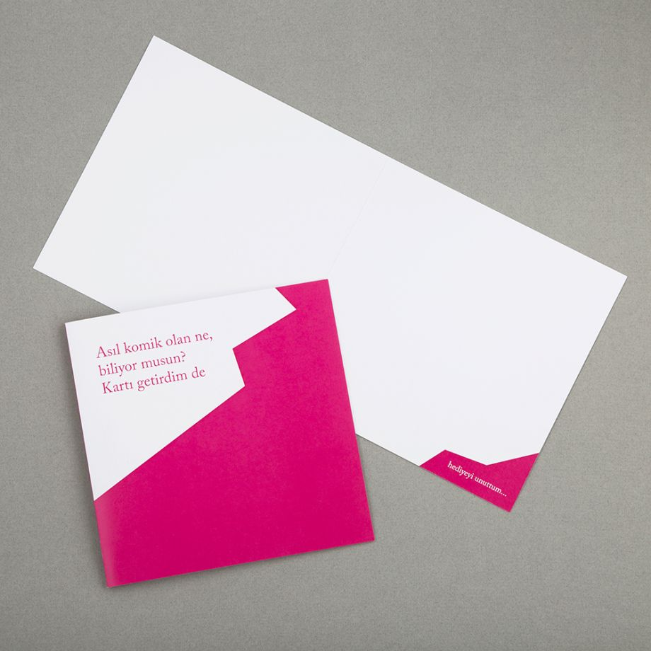 Sarcastic Cards - Pembe
