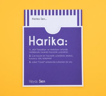 Dictionary Cards - HARİKA