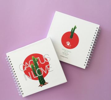 Hipster Series Notebooks - ICONS: CACTUS IN LOVE