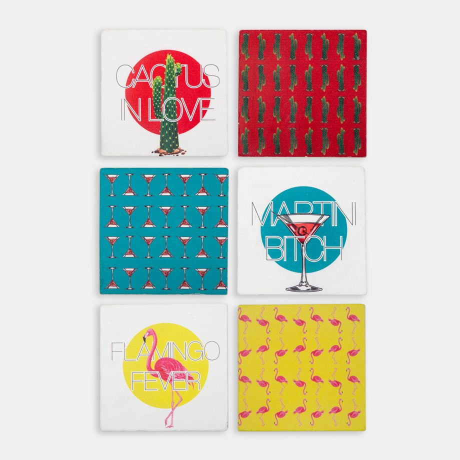 Hipster Series Coasters - ICONS: Martini Bitch Single