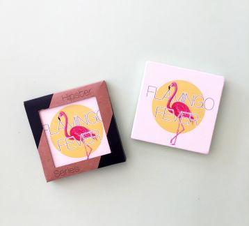 Hipster Series Coasters - ICONS: Flamingo Fever Single