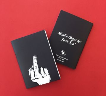 Talk to the Hand Notebooks - Middle Finger