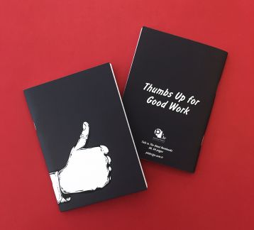 Talk to the Hand Notebooks - Thumbs Up