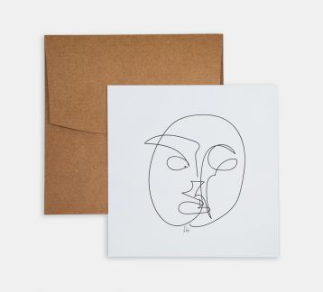 Line Drawings 15x15 - Face 1