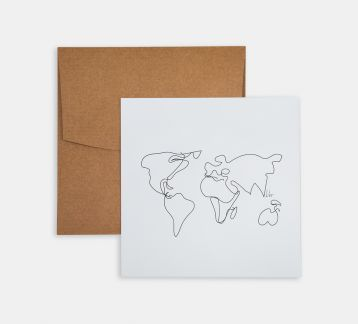 Line Drawings 15x15 - World Map