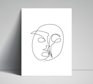 Line Drawings 30x40 - Face 1